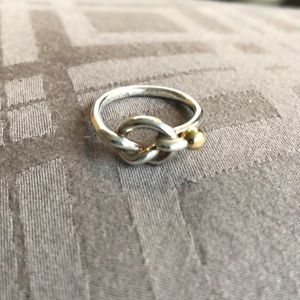 Tiffany and Co 18k & Silver Love Knot Ring
